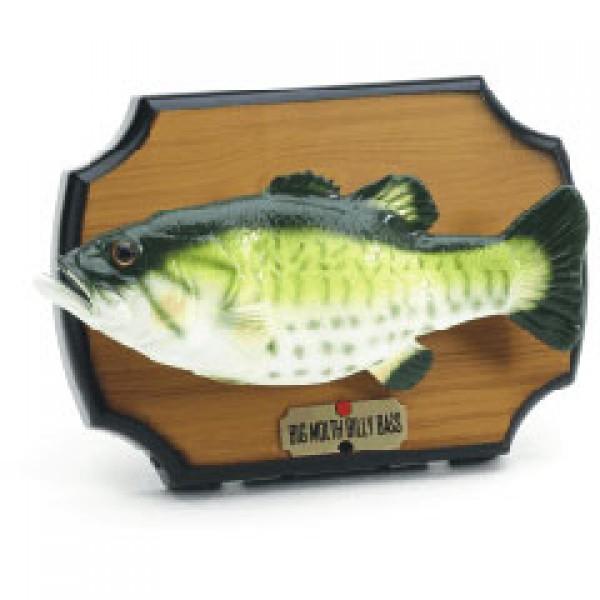 Big Mouth Billy Bass Singing Dancing Fish Wall
