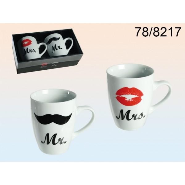 Porcelain Mug , Mr @ Mrs .