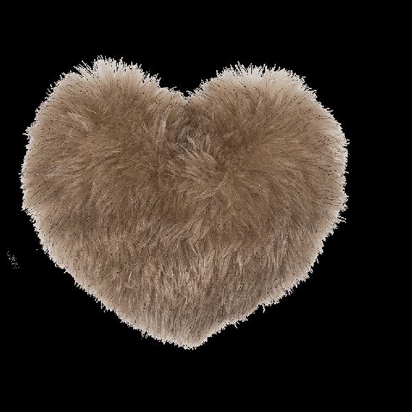 Ivory coloured fake fur cushion
