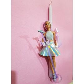 Λαμπάδα Barbie Κούκλα Μικρόφωνο