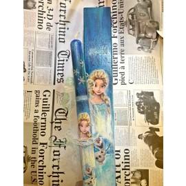 Λαμπάδα Έλσα Frozen με Ξύλινο Χειροποίητο Κουτί