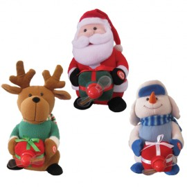 Christmas Figures With Fan