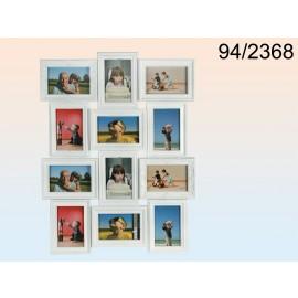 White plastic picture frame