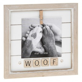 Scrabble Frame Woof- Meow