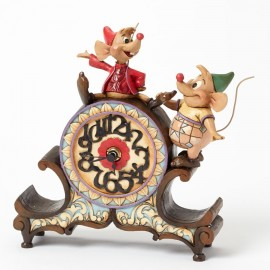A Stitch In Time-Jaq And Gus Clock Figurine