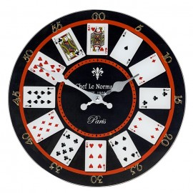 Wall Clock Playing Cards