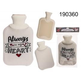 White Hot Water Bottle Always in my Heart