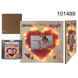 Wooden Plaque with Red Heart Always in my Heart