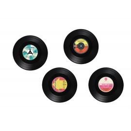 Vinyl-Style Silicone Coasters