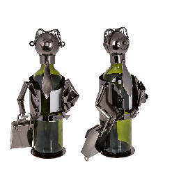 Metal Bottle Holder Head Business man