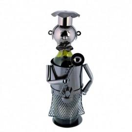 Metal Bottle Holder Head Chef