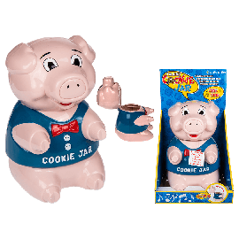Pig Plastic Cookie Box With Sound