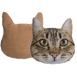 Decoration Cushion Beige Cat