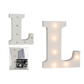 "Illuminated Wooden Letter ""L"""