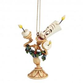 Lumiere, Cogsworth, Mrs Potts & Chip Hanging Ornaments- Jim Shore