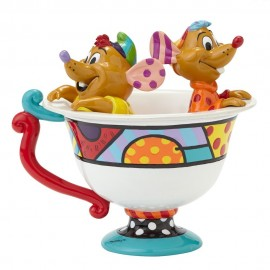 Jaq & Gus In Teacup Figurine Britto