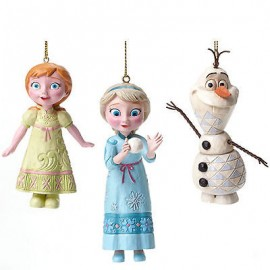 Disney Traditions Jim Shore Frozen Hanging Ornaments- Elsa, Anna, Olaf
