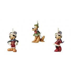 Mickey Mouse, Minnie, Pluto Hanging Ornaments- Jim Shore- Disney