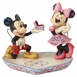 A Magical Moment Mickey Proposing to Minnie Mouse Figurine