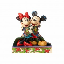 Warm Wishes-Mickey and Minnie Wrapped in Quilt