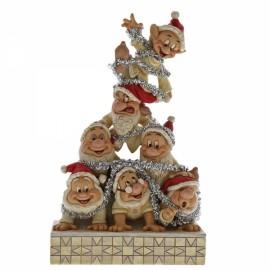 Seven Dwarfs Precarius Pyramid Jim Shore