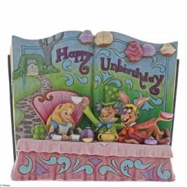 Happy Unbirthday-Alice in Wonderland Story Book Figurine