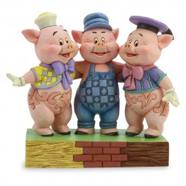 Three Little Pigs Squealing Siblings by Jim Shore