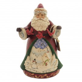 Jim Shore Santa with Cardinal Garland Figurine
