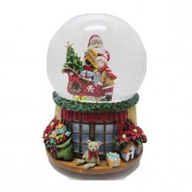 Snow Globe Santa and Boy