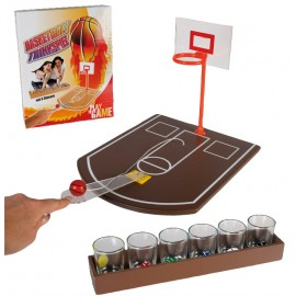 "Drinking Game ""Basketball"" with 6 glasses"