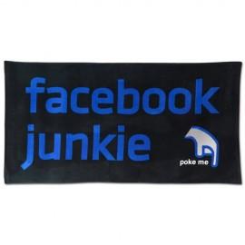 Facebook Junkie Beach Towel