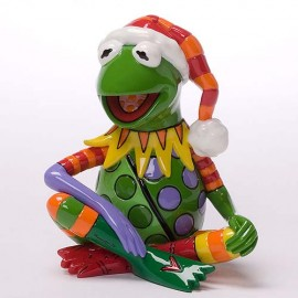 Disney By Britto - Kermit The Frog Mini Christmas Figurine