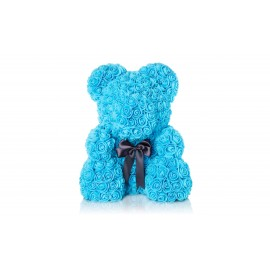 Αρκουδάκι Τριανταφυλλένιο Γαλάζιο