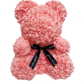 Pink Teddy Bear With Roses