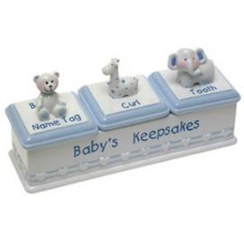 Baby Boy Triple Keepsafe Box