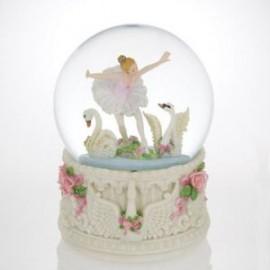 Swan Lake Ballerina Musical Snow Globe