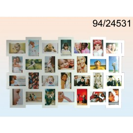 White wooden photo frame XXL