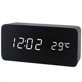 Wooden Digital Alarm Clock