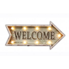 Wellcome Sign Leds Mdf