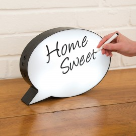 Illuminated Speech Bubble with Pen for Writing