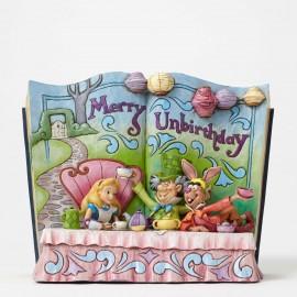 Merry Unbirthday-Alice in Wonderland Story Book Figurine