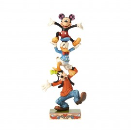 Teetering Tower-Goofy, Donald, and Mickey Figurine Jim Shore