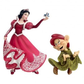 Christmas Snow White & Dopey Figurine Jim Shore