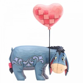 Eeyore with a Heart Balloon Figurine