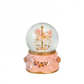 Globe Carousel Horse Pink Mane