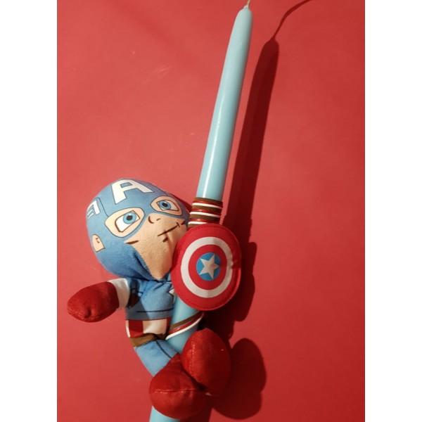 Λαμπάδα Captain America Λούτρινο