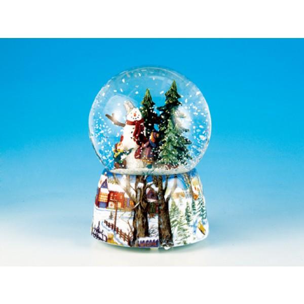 Χιονόμπαλα Χριστουγεννιάτικη Με Χιονάνθρωπο