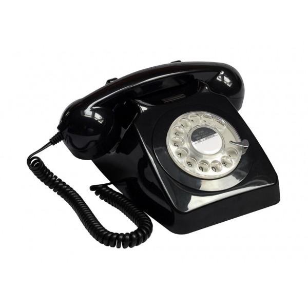 Ρετρό Τηλέφωνο Inox 1950