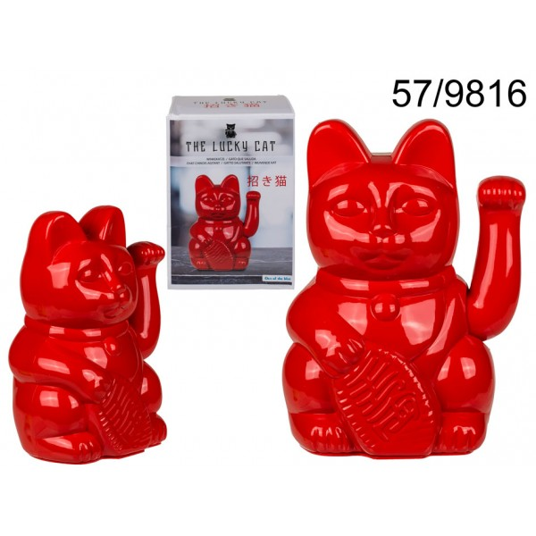 Τυχερή Kόκκινη Γάτα Maneki Neko