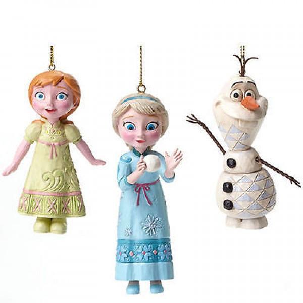 Disney Traditions Jim Shore Frozen Χριστουγεννιάτικα Στολίδια- Έλσα, Άννα, Όλαφ
